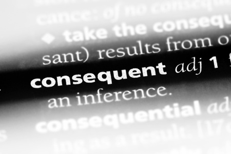 consequent word in a dictionary. consequent concept