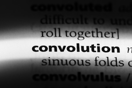 convolution word in a dictionary. convolution concept 스톡 콘텐츠