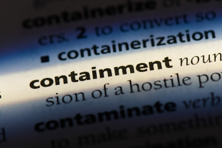 containment word in a dictionary. containment concept Stok Fotoğraf - 100444430