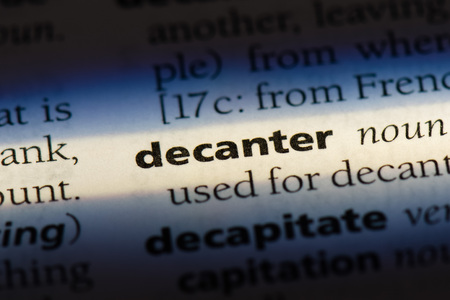 decanter word in a dictionary. decanter concept