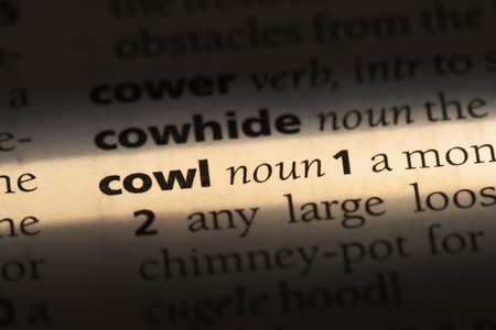 cowl word in a dictionary. cowl concept