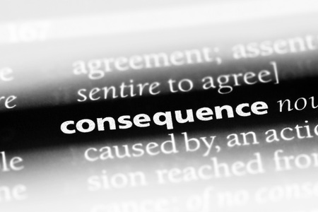 consequence word in a dictionary. consequence concept Foto de archivo - 100439363