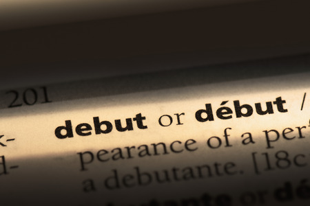 debut word in a dictionary. debut concept Imagens