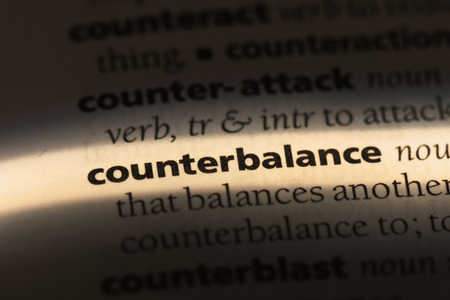 counterbalance word in a dictionary. counterbalance concept
