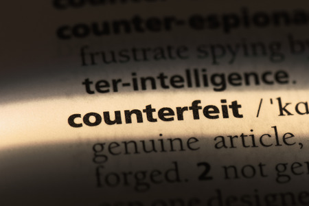 counterfeit word in a dictionary. counterfeit concept