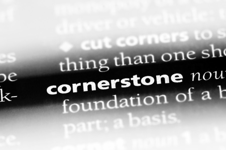 cornerstone word in a dictionary. cornerstone concept Imagens