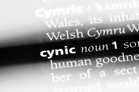 cynic word in a dictionary. cynic concept Banco de Imagens - 100409231