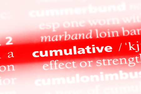 cumulative word in a dictionary. cumulative concept Stock fotó