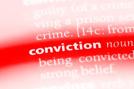 conviction word in a dictionary. conviction concept 版權商用圖片 - 100444603