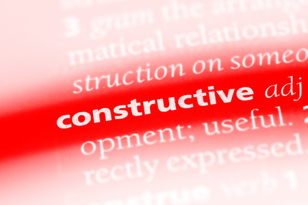 constructive word in a dictionary. constructive concept Stock Photo