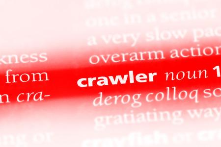 crawler word in a dictionary. crawler concept 版權商用圖片