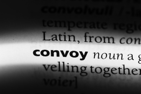 convoy word in a dictionary. convoy concept 스톡 콘텐츠