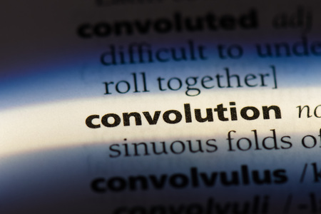 convolution word in a dictionary. convolution concept 스톡 콘텐츠 - 100409398