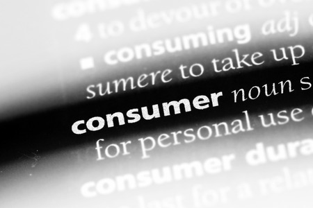 consumer word in a dictionary. consumer concept Stock Photo