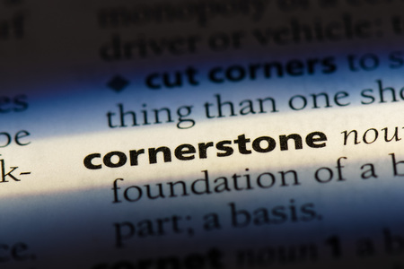 cornerstone word in a dictionary. cornerstone concept Banco de Imagens