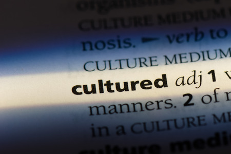 cultured word in a dictionary. cultured concept Stok Fotoğraf - 100437816