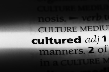 cultured word in a dictionary. cultured concept Stok Fotoğraf