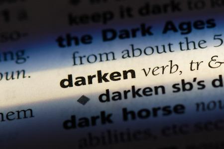 darken word in a dictionary. darken concept