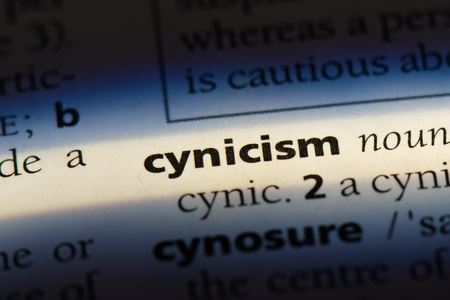 cynicism word in a dictionary. cynicism concept