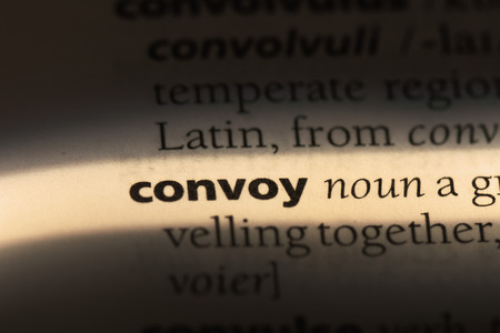 convoy word in a dictionary. convoy concept Stock Photo