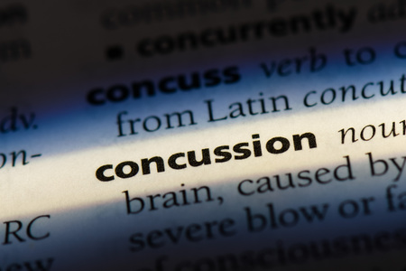 concussion word in a dictionary. concussion concept 免版税图像