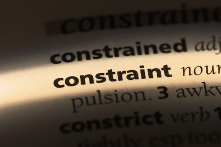 constraint word in a dictionary. constraint concept