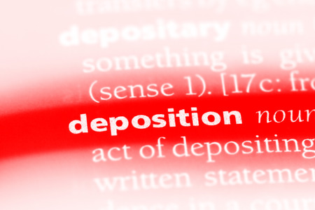 deposition word in a dictionary. deposition concept