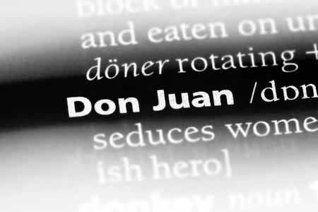 Don Juan word in a dictionary. Don Juan concept