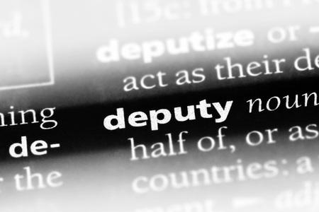 deputy word in a dictionary. deputy concept Stock fotó