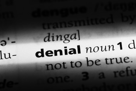 denial word in a dictionary. denial concept Banco de Imagens
