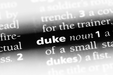 duke word in a dictionary. duke concept