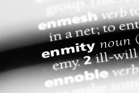 enmity word in a dictionary. enmity concept Stock Photo