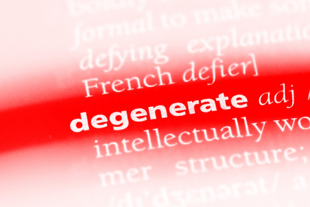 degenerate word in a dictionary. degenerate concept