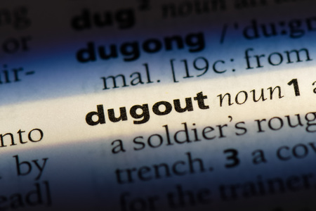 dugout word in a dictionary. dugout concept