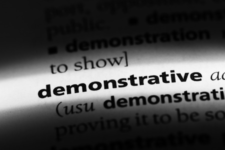 demonstrative word in a dictionary. demonstrative concept Reklamní fotografie - 100441477