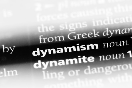 dynamism word in a dictionary. dynamism concept Stock Photo