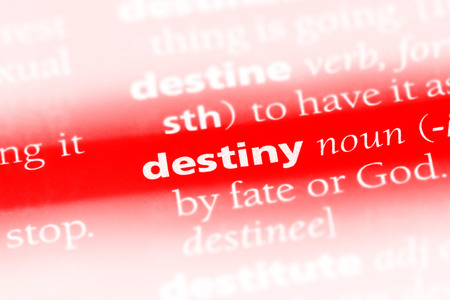 destiny word in a dictionary. destiny concept