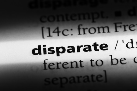 disparate word in a dictionary. disparate concept