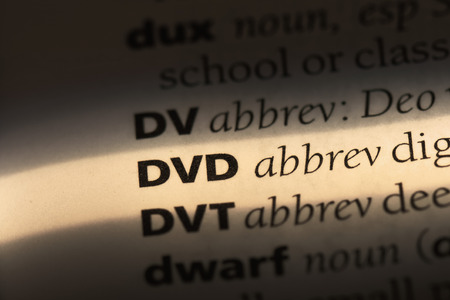dvd word in a dictionary. dvd concept