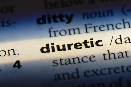 diuretic word in a dictionary. diuretic concept Stock Photo