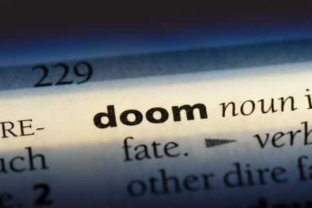 doom word in a dictionary. doom concept