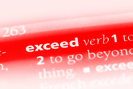 exceed word in a dictionary. exceed concept