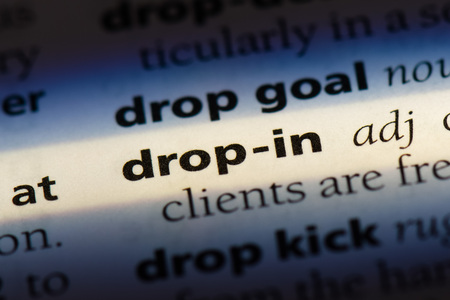 drop-in word in a dictionary. drop-in concept