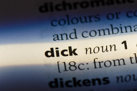 dick word in a dictionary. dick concept