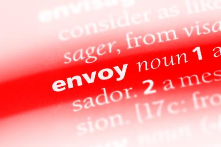 envoy word in a dictionary. envoy concept