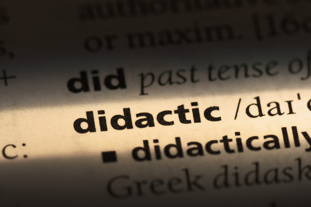 didactic word in a dictionary. didactic concept