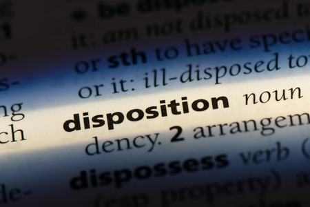 disposition word in a dictionary. disposition concept Imagens