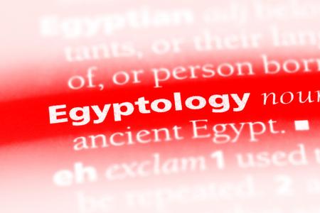 egyptology word in a dictionary. egyptology concept