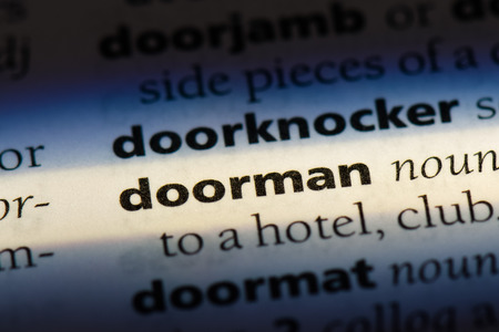 doorman word in a dictionary. doorman concept