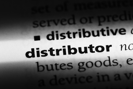 distributor word in a dictionary. distributor concept Banco de Imagens